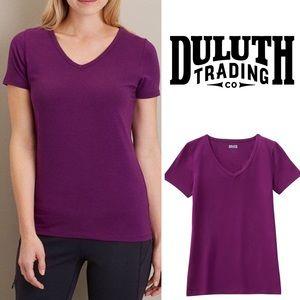 Duluth Trading No-Yank Short Sleeve V-Neck T-Shirt